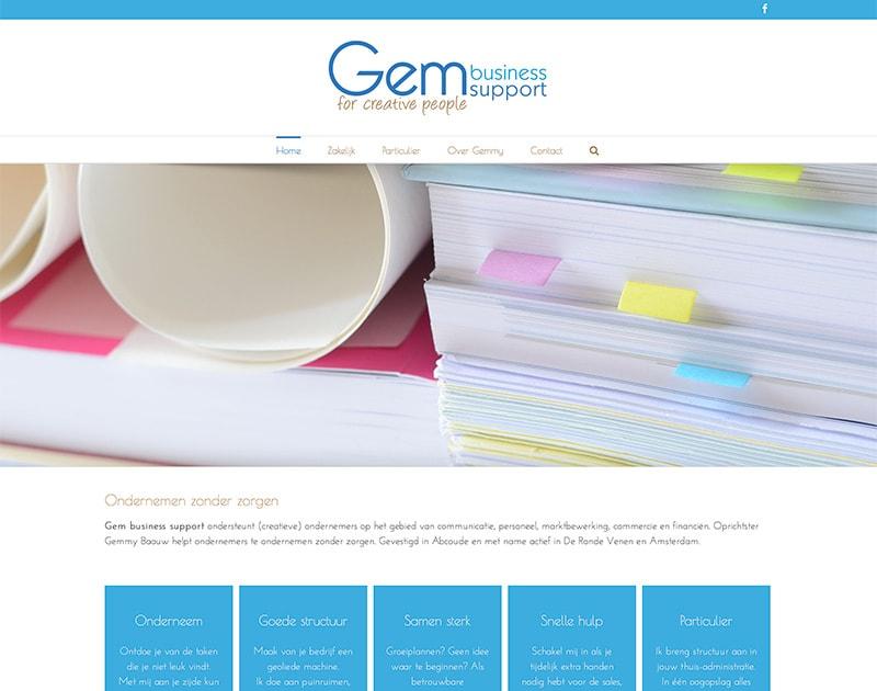 website van GEM Business Support