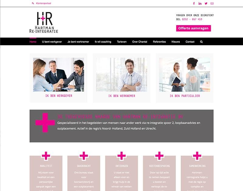 website van Hartman Reintegratie
