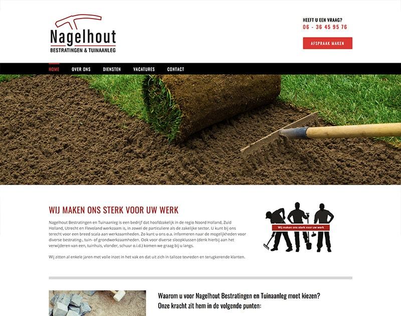 website van Nagelhout Bestratingen en Tuinaanleg